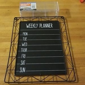 Other - Weekly Planner Chalkboard and Storage Container